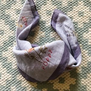 Madewell Bandana, Herb and Floral Design